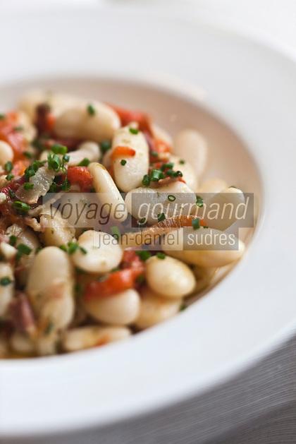 Europe/France/Aquitaine/40/Landes/Magescq:  Salade de haricots tarbais, recette de Jean Cousseau, Restaurant: Côté Quillier- Auberge Coussau