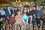 Retirement Party: John O'Sullivan, Ballydonoghue, Liselton, pictured with his wife Eileen and colleagues from Kerry Group , Listowel at his retirement party after 33 years at John B Keane's Bar , Listowel on Friday night last.