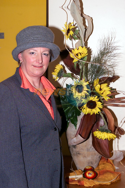 Candy Holten from Ardee at the ICA Flower Arranging in the Ardee Day Care Centre..Picture Paul Mohan Newsfile