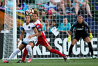 Boyds, MD. - Saturday, June 24 2017:  Nadia Nadim, Estelle Johnson  during a regular season National Women's Soccer League (NWSL) match between the Washington Spirit and the Portland Thorns FC at Maureen Hendricks Field, Maryland SoccerPlex.<br />  The Washington Spirit defeated the Portland Thorns FC 1-0.