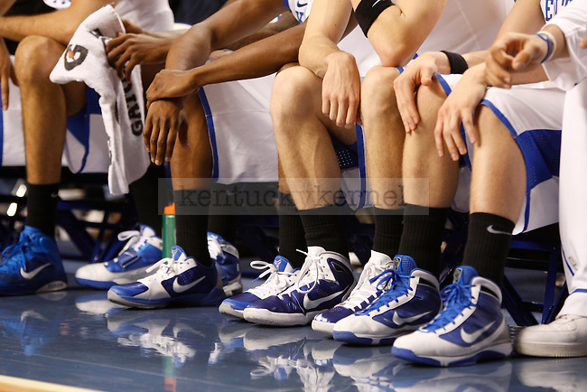 The Kentucky Wildcats wore black socks in honor of the passing of Coach Calipari's mother Tuesday, November 30, 2010 at Rupp Arena.  Photo by Latara Appleby | Staff