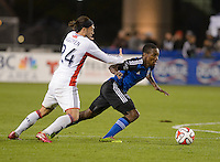 Santa Clara, Ca - Saturday, March 29, 2014: The San Jose Earthquakes fell to the New England Revolution 2-1 at Buck Shaw stadium in an MLS match up.