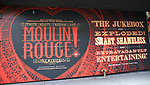 "Billboard for ""Moulin Rouge!"" The Broadway Musical at the Al Hirschfeld Theatre on July 9, 2019 in New York City."