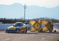 Feb 24, 2019; Chandler, AZ, USA; NHRA funny car driver Matt Hagan during the Arizona Nationals at Wild Horse Pass Motorsports Park. Mandatory Credit: Mark J. Rebilas-USA TODAY Sports