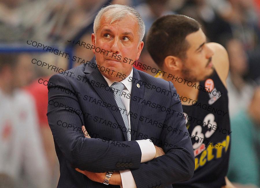 Kosarka Euroleague season 2015-2016<br /> Euroleague <br /> Crvena Zvezda v Fenebahce Istanbul<br /> Head coach Zeljko Obradovic and Nikola Kalinic<br /> Beograd, 06.11.2015.<br /> foto: Srdjan Stevanovic/Starsportphoto &copy;