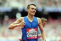 Chris O'hare of Great Britain after competing in the menís 1500 metres during the Muller Anniversary Games at The London Stadium on 9th July 2017