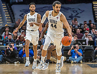 WASHINGTON, DC - JANUARY 28: Omer Yurtseven #44 of Georgetown starts n attack during a game between Butler and Georgetown at Capital One Arena on January 28, 2020 in Washington, DC.