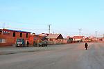 small town of Khoujir on Olkhon island famous for their holy rocks..village de Khoujir sur l'île d'Olkhon célèbre pour ses rochers sacrés