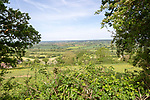 View over Avon valley from Bremhill looking west, near Chippenham, Wiltshire, England, UK