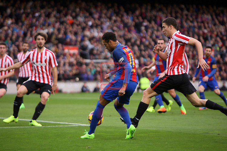 League Santander 2016/2017. Game: 21.<br /> FC Barcelona vs Athletic Club: 3-0.<br /> Neymar Jr vs De Marcos.