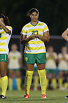 04 September 2015: Oregon's Marlo Sweatman. The North Carolina State University Wolfpack hosted the Oregon University Ducks at Dail Soccer Field in Raleigh, NC in a 2015 NCAA Division I Women's Soccer game. NC State won the game 2-0.