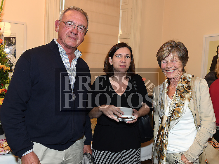 Robert and Adri Berney and Fiona Loughnane at the Bea Orpen exhibition in Barlow House. Photo:Colin Bell/pressphotos.ie