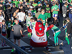 Aces mascot Archie before the start of the 7th annual Leprechaun Race in downtown Reno, Nevada on Sunday, March 17, 2019.