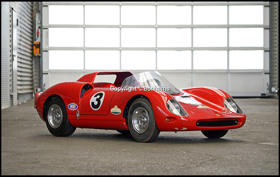 BNPS.co.uk (01202 558833)<br /> Pic: Bonhams/BNPS<br /> <br /> Ferrari '330 P2' Junior Sports-Racing Car estimate £8,500.<br /> <br /> The ultimate boy's toy... <br /> <br /> A selection of fully functional racing car replicas designed for children are set to see people speeding to auction. <br /> <br /> Not many kids can say they got a Ferrari for Christmas but the emergence of three pint-sized sport cars has presented the unusual opportunity. <br /> <br /> Each item in the collection, which includes a Ferrari 500 F2, Ferrari 330 P2 and Maserati 250F are valued at up to £8,500. <br /> <br /> Automatically driven, they are operated with a brake and accelerator and can reach speeds of up to 30mph.