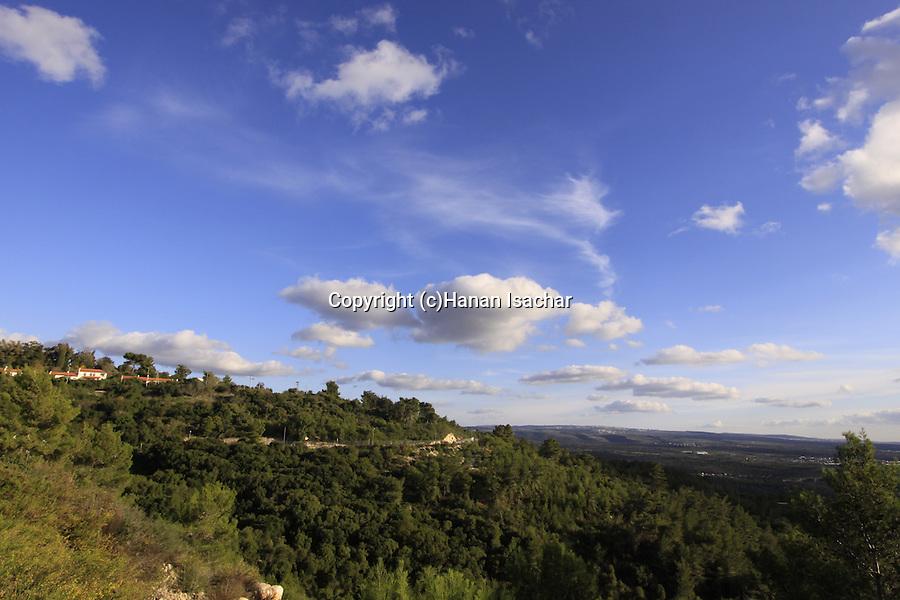 Israel, Upper Galilee, Kibbutz Hanita overlooking Hanita Forest