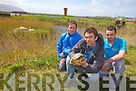 Dr Dave  McCormick Ecologist and Assistant Manager (pictured centre) with Tralee Bay Wetlands holding 'Terry' the Terrapin who was found living amongst the wildlife in the 'The Old Pond last Tuesday, pictured with Eddie Lacey and Paul McDonnell (Tour Guides).