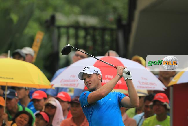 Danny Willett (ENG) on the 1st on Day 3 of the Maybank Malaysian Open 2012 at Kuala Lumpur Golf and Country Club, Kuala Lumpur, Malaysia...(Photo Jenny Matthews/www.golffile.ie)