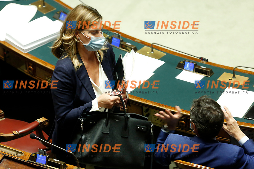 Deputy Giusi Bartolozzi at the Chamber of Deputies, during the final vote on the Justice Decree. Rome (Italy), June 25th 2020<br /> Foto Samantha Zucchi Insidefoto