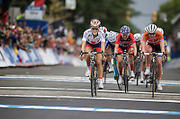 Lizzie Armistead (GBR) wins the sprint to the finish line & becomes the new World Champion<br /> <br /> Elite Women Road Race<br /> UCI Road World Championships Richmond 2015 / USA