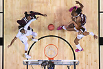 DALLAS, TX - APRIL 2: South Carolina Gamecocks and Mississippi State Lady Bulldogs box out during the 2017 Women's Final Four at American Airlines Center on April 2, 2017 in Dallas, Texas. (Photo by Justin Tafoya/NCAA Photos via Getty Images)