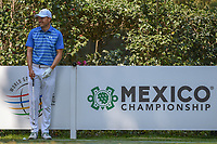 Jordan Spieth (USA) shares a laugh on the 17th tee before teeing off with LPGA golfer Lorena Ochoa (MEX) during the preview of the World Golf Championships, Mexico, Club De Golf Chapultepec, Mexico City, Mexico. 2/28/2018.<br /> Picture: Golffile | Ken Murray<br /> <br /> <br /> All photo usage must carry mandatory copyright credit (&copy; Golffile | Ken Murray)