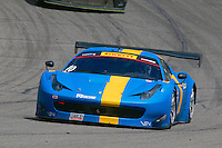 Hennk Hedman, #10 Ferrari, Pirelli World Challenge, Barber Motorsports Park, Leeds, Alabama, April 2014(Photo by Brian Cleary/www.bcpix.com)