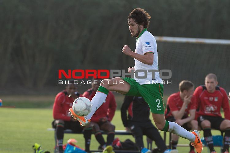 Trainingsgel&auml;nde, Jerez, ESP, 1.FBL, FSP  Werder Bremen (GER)  vs NEC Nijmegen (NED),  12.01.2014, <br /> <br /> Santiago Garcia (Bremen #2)<br /> <br /> Foto &copy; nordphoto/ Kokenge