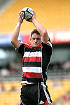 Kristian Ormsby takes lineout ball during the Air New Zealand Cup rugby game between Counties Manukau & Hawkes Bay played at Mt Smart Stadium, 30th of September 2006. Hawkes Bay won 30 - 29.