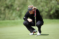 Simon Wakefield lines up his putt on the 10th green on during the third round of the Irish Open on 19th of May 2007 at the Adare Manor Hotel & Golf Resort, Co. Limerick, Ireland. (Photo by Eoin Clarke/NEWSFILE)...