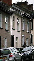 Pictured: The house (CENTRE) believed to be the one where people were arrested FROM in West Street, Newport, south Wales, UK. Wednesday 20 September 2017<br />Re: Two men have been arrested in south Wales over Friday's terror attack on a London Underground train, bringing the total number held to five.<br />Two men, one 48 and the other 30 were detained under the Terrorism Act in the early hours, after a search at an address in Newport.<br />Police are still searching there, and at a second address in Newport.<br />Thirty people were injured when a homemade bomb partially exploded on a rush-hour Tube train at Parsons Green in south-west London.