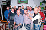 Shave or Dye: Taking part in the Shave or Dye fund raising event in aid of Listowel Hospice at McCarthy's Bar, Finuge on Sunday night last were in front organizer DJ Kelly, Donal Browne & barber John Chute. Back : Graham Keane, Dan Lyons, Noah Enright, John Walsh, Stan Lawlor, John McKenna, Shane Moran & Liam Kelly.