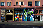 Street scene with mural and an in Venice Beach