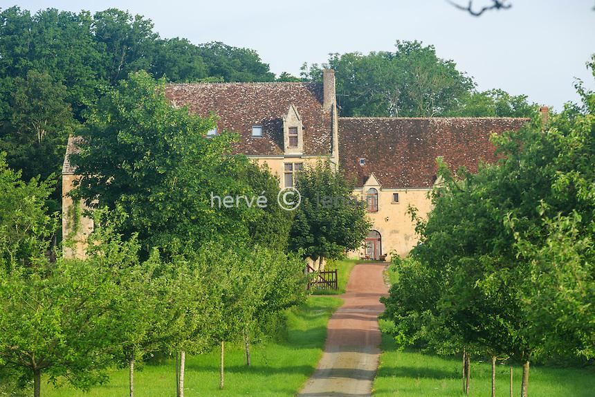France, Orne (61), Ceton, manoir de la Motte // France, Orne, Ceton, manor of the Motte