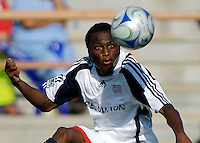 New England Revolution midfielder Sainey Nyassi (31) chases down a ball. The Chivas USA and New England Revolution played to 1-1 draw during a early round match of the 2008 SuperLiga at Cal State Fullerton Titan stadium in Fullerton, California on Sunday July 20, 2008.
