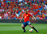 Spain's Jordi Alba during the Qualifiers - Group B to Euro 2020 football match between Spain and Sweden on 10th June, 2019 in Madrid, Spain. (ALTERPHOTOS/Manu Reino)