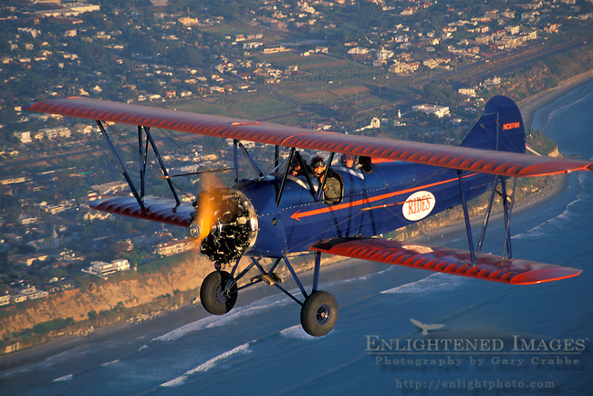 BiPlane tour at sunset over Carlsbad,+Northern San Diego Coastline San Diego County, CALIFORNIA