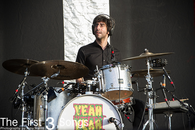 Brian Chase of the Yeah Yeah Yeahs performs during Day 2 of the 2013 Firefly Music Festival in Dover, Delaware.