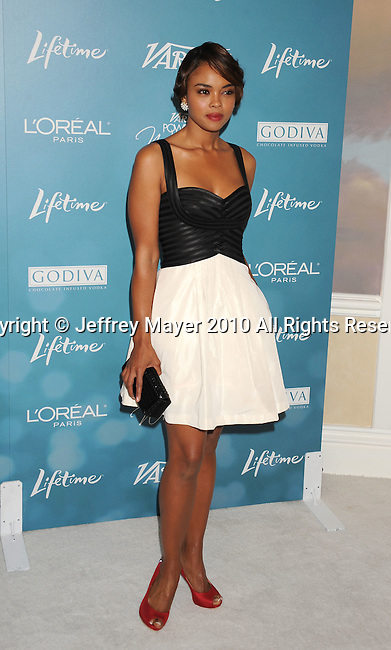 BEVERLY HILLS, CA. - September 30: Sharon Leal arrives at Variety's 2nd Annual Power Of Women Luncheon at The Beverly Hills Hotel on September 30, 2010 in Beverly Hills, California.