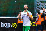 S&ouml;dert&auml;lje 2014-05-18 Fotboll Superettan Syrianska FC - Hammarby IF :  <br /> Hammarbys Kennedy Bakircioglu jublar efter sitt 4-2 m&aring;l och tittar upp mot himlen n&auml;r han g&ouml;r m&aring;lgest<br /> (Foto: Kenta J&ouml;nsson) Nyckelord:  Syrianska SFC S&ouml;dert&auml;lje Fotbollsarena Hammarby HIF Bajen jubel gl&auml;dje lycka glad happy