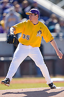 Starting pitcher Kevin Brandt #35 of the East Carolina Pirates in action versus the Virginia Cavaliers at Clark-LeClair Stadium on February 20, 2010 in Greenville, North Carolina.   Photo by Brian Westerholt / Four Seam Images