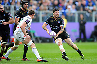 Matt Banahan of Bath Rugby looks to pass the ball. European Rugby Challenge Cup Quarter Final, between Bath Rugby and CA Brive on April 1, 2017 at the Recreation Ground in Bath, England. Photo by: Patrick Khachfe / Onside Images