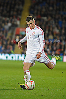 Gareth Bale of Wales and Real Madrid. Cardiff City Stadium, Cardiff, Wales, Wednesday 5th March 2014. The Football Association of Wales - Vauxhall International Friendly - Wales v Iceland. Pictures by Jeff Thomas Photography - www.jaypics.photoshelter.com - Contact: thomastwotimes@live.co.uk - 07837 386244