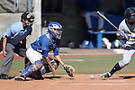 Wildcats' Brandon Lapointe works behind the plate against College of Southern Nevada at Western Nevada College in Carson City, Nev., on Thursday, March 26, 2015. <br /> Photo by Cathleen Allison/Nevada Photo Source