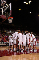 30 December 2006: Stanford Cardinal Jayne Appel, Markisha Coleman, Clare Bodensteiner, Michelle Harrison, JJ Hones, Candice Wiggins, Christy Titchenal, Cissy Pierce, Rosalyn Gold-Onwude, Brooke Smith, Morgan Clyburn, Melanie Murphy, Jillian Harmon, and Kristen Newlin during Stanford's 77-71 win against the Arizona State Sun Devils at Maples Pavilion in Stanford, CA.