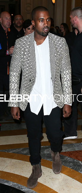 LAS VEGAS, NV, USA - OCTOBER 24: Kanye West arrives at Kim Kardashian's 34th Birthday Celebration held at TAO Las Vegas on October 24, 2014 in Las Vegas, Nevada, United States. (Photo by Xavier Collin/Celebrity Monitor)