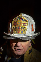 Buffalo Division Chief Don Mcfeeley after leading his men at a fire on Buffalo's west side.