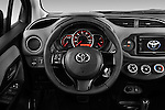 Car pictures of steering wheel view of a 2015 Toyota Yaris SE 5-Door Liftback AT 5 Door Hatchback Steering Wheel