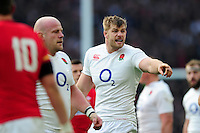 George Kruis of England in action. RBS Six Nations match between England and Wales on March 12, 2016 at Twickenham Stadium in London, England. Photo by: Patrick Khachfe / Onside Images