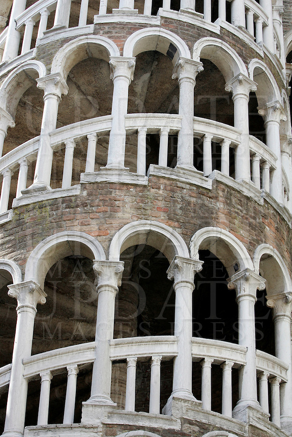 La Scala Contarini del Bovolo, a Venezia.<br /> The Scala Contarini del Bovolo spiral staircase  in Venice.<br /> UPDATE IMAGES PRESS/Riccardo De Luca