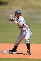 Slippery Rock second baseman Matt Curtis (2) during practice before a game against the Wayne State Warriors on March 15, 2013 at Chain of Lakes Park in Winter Haven, Florida.  (Mike Janes/Four Seam Images)